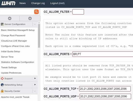 Batasi Akses Port FTP dan cPanel Dari Negara Tertentu