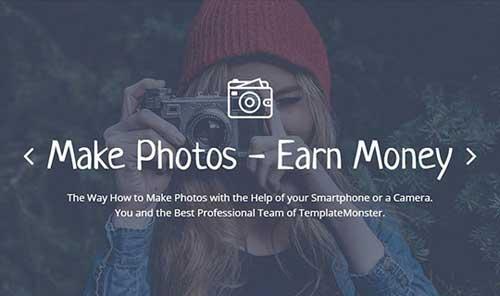 Belajar Dapatkan Uang Dari Foto di TemplateMonster